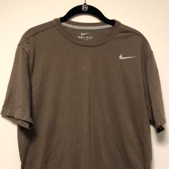 brown nike shirt